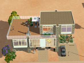 Sims 3 — Pilar by RubyRed2020 — Here life only takes place from floor number one. There are 2 bedrooms, 2 bathrooms,