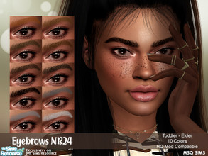 Sims 4 — Eyebrows NB24 by MSQSIMS — - Base Game - 10 Swatches - Toddler - Elder - Female/Male - HQ Mod Compatible -
