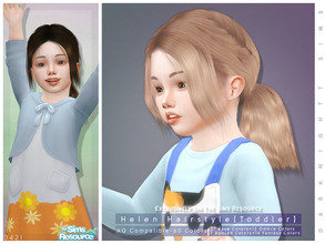 Sims 4 — Helen Hairstyle [Toddler] by DarkNighTt — Helen Hairstyle [Toddler] 60 colors (27 Base Colors+12 Ombre Colors+7
