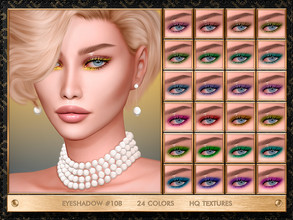 Sims 4 — JUL_HAOS [COSMETICS] EYESHADOW #108 by Jul_Haos — - CATEGORY: EYESHADOW - COLORS: 24 - SLIDERS COMPATIBLE -