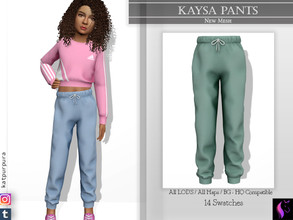 Sims 4 — Kaysa Pants by KaTPurpura — Basic and comfortable pants for girls. An indispensable for many occasions