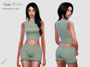 Sims 4 — OUTFIT 101 by pizazz — new mesh included with download base game 08 colors / swatches
