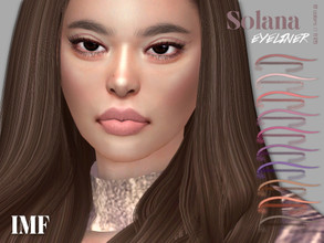 Sims 4 — IMF Solana Eyeliner N.126 by IzzieMcFire — Solana Eyeliner N.126 contains 10 colors in hq texture. Standalone