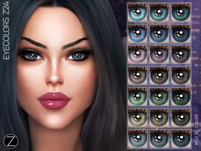 Sims 4 — EYECOLORS Z24 by ZENX — -Base Game -All Age -For Female -30 colors -Works with all of skins -Compatible with HQ