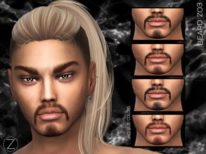 Sims 4 — BEARD Z03 by ZENX — -Base Game -All Age -For Female -11 colors -Works with all of skins -Compatible with HQ mod