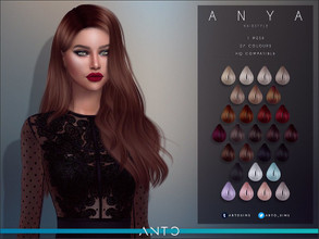 Sims 4 — Anto - (Patreon) Anya by Anto — Long wavy hair. Hope you like it! Visit my Patreon for more hairs! :D