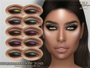 Sims 4 — FRS Eyeshadow N163 by FashionRoyaltySims — Standalone Custom thumbnail 10 color options HQ texture Compatible