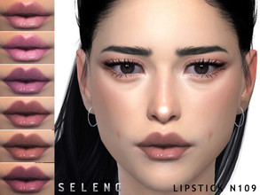 Sims 4 — Lipstick N109 by Seleng — Teen to Elder Female 12 colours Custom Thumbnail HQ mod compatible The picture was
