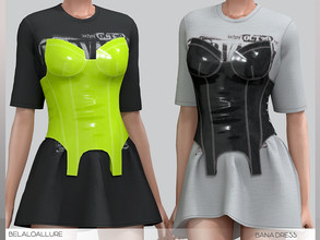 Sims 4 — Belaloallure_Bana dress by belal19972 — Simple shirt with plastic corset