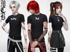 Sims 4 — Guys SadBoy, Devil and Upside Down Cross T-shirts by MaruChanBe2 — Guys t-shirts for your alt sims <3 Three