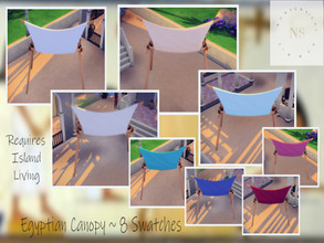 Sims 4 — Egyptian Canopy by bekahluann — Egyptian Themed Canopy ~ Requires Island Living
