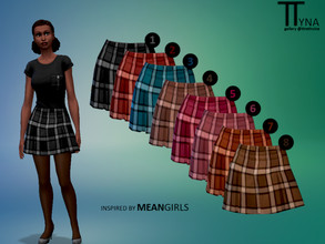 Sims 4 — Mean Girls Inspired Plaid Skirt (ttratincica) by ttratincica — Plaid skirt inspired by Mean Girls comes in 8