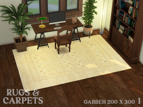 Sims 4 — Gabbeh 200 x 300 cm (79 x 118 in) No. 1 by RugsAndCarpets — This hand knotted carpet was made by Ghashgai nomads