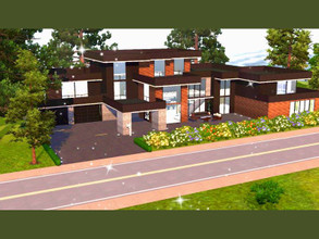 Sims 3 —  The Modern Mansion by TheSimpleSims — A beautiful 5 bedroom, 5 bath home with plenty of room for growth. Could