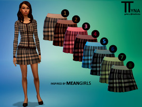 Sims 4 — Mean Girls Inspired Lighter Plaid Skirt (ttratincica) by ttratincica — Plaid skirt inspired by Mean Girls comes