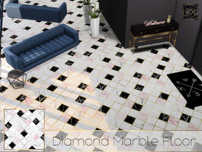 Sims 4 — TX - Diamond Marble Floor by theeaax — Diamond Marble Floor 2 Different swatches 2 Colors (Gold and silver)