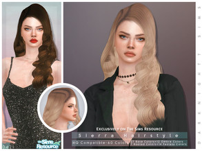 Sims 4 — Siearra Hairstyle by DarkNighTt — Siearra Hairstyle 60 colors (27 Base Colors+12 Ombre Colors+7 Rooted Colors+14