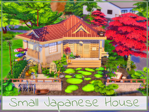 Sims 4 — Small Japanese House by simmer_adelaina — ---PLEASE DON'T FORGET ABOUT MOO BEFORE PLACING IT--- Hello everyone!