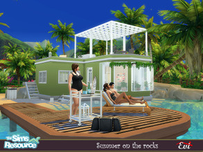 Sims 4 — Summer on the rocks by evi — A two bedroom summer house. Vacation time!