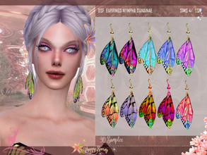 Sims 4 — DSF EARRINGS NYMPHA DANAINAE by DanSimsFantasy — Earrings inspired by the Danainae family, consisting of a pair