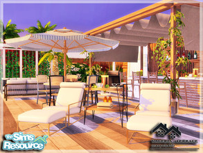 Sims 4 — VALERIA - Terrace by marychabb — I present a room - Terrace, that is fully equipped. Tested. Cost: 22,160 $