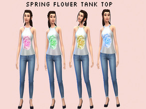 Sims 4 — Spring Flower Top by GalaxyUnicorn1 — Hello. I have not posted here in a hot minute. I am sorry, I just have