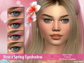 Sims 4 — Rose x Spring Eyeshadow by MSQSIMS — - Base Game - Teen-Elder - Female - 4 Swatches - HQ Mod Compatible - Custom