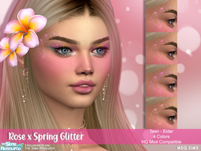 Sims 4 — Rose x Spring Glitter by MSQSIMS — - Base Game - Teen-Elder - Female - 4 Swatches - Skin Detail Category - HQ