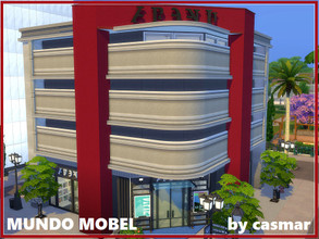 Sims 4 — Mundo Mobel by casmar — With this lot I finish building the Magnolia Promenade shopping area! It was the last