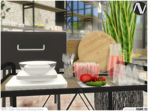 Sims 4 — Tyler Outdoor Dining Extra by ArtVitalex — Outdoor And Garden Collection | All rights reserved | Belong to 2021