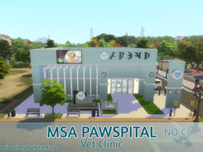 Sims 4 — MSA Pawspital Vet Clinic NO CC by mirasimsarchitecture — Floor 1: Entrance 4 Examination Room Bath & Care