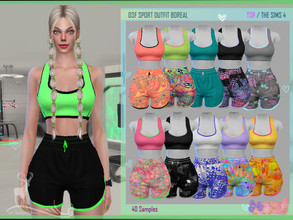 Sims 4 — DSF SPORT OUTFIT BOREAL by DanSimsFantasy — Outfit for sports activities. It consists of a top and shorts that