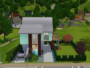 Sims 3 — Kegan by RubyRed2020 — This tiny house is ideal for singles or people who have just fallen in love. Downstairs