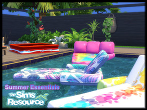 Sims 4 — Summer Essentials Collection by seimar8 — Summer essential living for the garden and the poolside. Please see