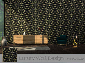 Sims 4 — TX - Luxury Wall Design - Art Deco Style by theeaax — Luxury Wall Design in Art Deco style 4 Different Swatches