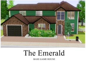 Sims 3 — The Emerald - BASE GAME HOUSE by GhostlySimmer — A medium-sized house for your sim family. This house features 3
