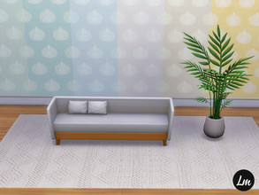 Sims 4 — Shell Cottage Wallpaper by Lucy_Muni — Wallpaper in beach colours, 6 swatches
