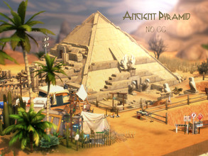 Sims 4 — Ancient Pyramid by VirtualFairytales — This Excavation site reveals secrets that have been covered in sand for