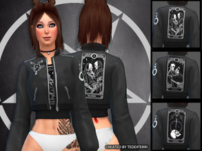 Sims 4 — TAROT CARD COAT by TeddiTerri2 — THREE COATS! EACH WITH DIFFERENT TAROT CARDS ON THE BACK AND OTHER ASSORTED