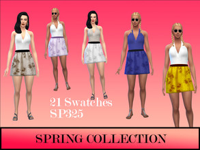 Sims 4 — Spring Fashions by simsplayer325 —  Lovely spring dress with 22 swatches. Mesh created by me.