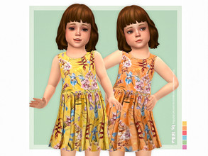 Sims 4 — Jonna Dress by lillka — Jonna Dress for Toddler 6 swatches Base game compatible Custom thumbnail Hair by