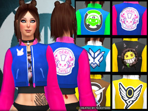 Sims 4 — OVERWATCH COATS by TeddiTerri2 — FIND SIX, YES SIX, COATS IN OVERWATCH THEMES! INCLUDED IS : - DVA - MERCY -