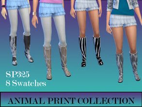 Sims 4 — Animal Print Collection by simsplayer325 — Animal Print boots great for those Rainy summer days!!
