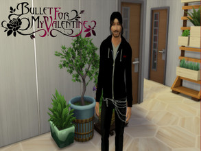 "Sims 4 — Bullet for my Valentine Male Jacket ""Scream Aim Fire"" by ditti309 — This is my first try making BFMV"