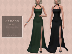 Sims 4 — Pipco - Athena Gown. by Pipco — 15 Swatches Base Game Compatible New Mesh All Lods HQ Compatible Specular and