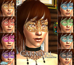 Sims 2 — Carnival Set by FrozenStarRo — A carnival mask for your sims ladies, maybe for a Halloween dress-up party?!