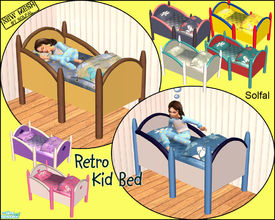 Sims 2 — Retro Kid Bed by solfal —