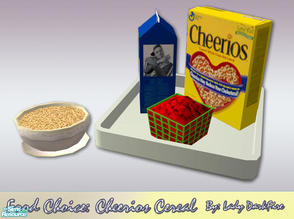 Sims 2 — Food Choice: Cheerios Cereal by Lady Darkfire — Its wholesome goodness for Simmies and is perfect for children