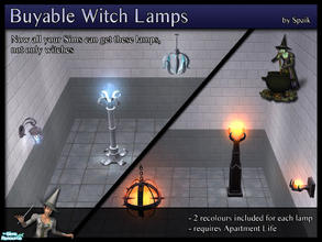 Sims 2 — Buyable Witch Lamps SET by Spaik — Do you like the lamps craftable by witches as I like? Now your Sims don\'t