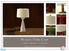 Sims 2 — Beaker Table Lamp by DOT — Beaker Table Lamp. 1 MESH plus recolors. Sims 2 by DOT of The Sims Resource.